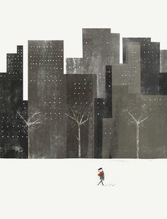 Winter city - by blancucha