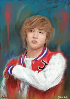 ليتوك leeteuk I don't use oil painting equipment, I convert photo to portrait or picture to portrait painting handmade, traditional style, but in digital way Visit my art gallery online ( online art site ) where you can get art to buy or to request your custom portrait painting www.ahmadkadi.com  My name is Ahmad Kadi / Ahmed Qadi, a freelance digital artist, اسمي أحمد القاضي، وأعمل رسام \ مصمم حر و أعيش بدبي Follow me on Instagram & Twitter @KadisArt #KadisArt