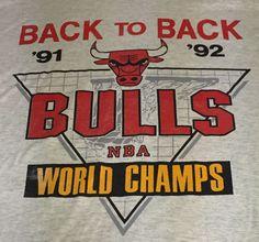 Vintage Chicago Bulls 1991-92 Champions X-Large Tee T-Shirt 50/50 XL #ScreenStars #ChicagoBulls