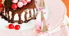 Una gatta in cucina: Cheesecake al cioccolato fondente e glassa al moscato