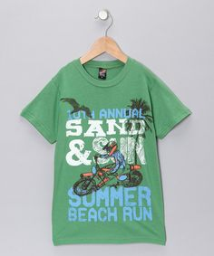 Green 'Sand & Sun' Tee - Toddler & Boys