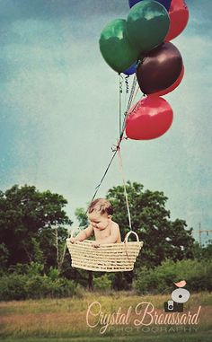 hot air balloon with baby