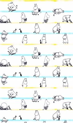 Shared by TAOZI. Find images and videos about wallpaper and moomin on We Heart It - the app to get lost in what you love. Moomin Wallpaper, Pattern Wallpaper, Cute Wallpapers, Wallpaper Backgrounds, Iphone Wallpaper, Moomin Tattoo, Moomin Valley, Tove Jansson, Illustrations And Posters