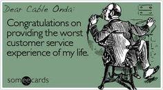 Dear Cable Onda, a greeting card just for you...