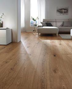 Parquet plank oak per m²- Parkett Landhausdiele Eiche per m² parquet - Floor Design, Vinyl Laminate Flooring, Home Design Living Room, New Homes, House Interior, Oak Floors, Flooring, Home Interior Design, Bedroom Flooring
