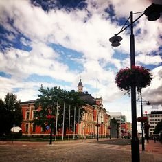 Here's Kuopio's town hall. Infront of the building is the town square. Kuopio, Finland. East Finland #kuopio #finland