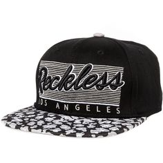 Young & Reckless The Black Cheetah Snapback Hat in Black (89.020 COP) ❤ liked on Polyvore featuring men's fashion, men's accessories, men's hats, hats, snapbacks and black cheetah