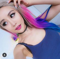 I wanna color my hair like her♡ #GirlChrush Youtube: Wengie & Wengie Vlogs Ins: MissWen