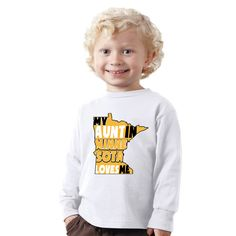 My aunt in MINNESOTA loves me shirt for boys or Baby Bodysuit by shirtsbynany on Etsy Cute Babies, Baby Kids, Funny Kids Shirts, Go For It, Love My Kids, Long Sleeve Bodysuit, Baby Bodysuit, Workout Shirts, Graphic Sweatshirt