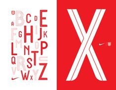Name: England X Ward Designer: Craig Ward Release Date: The typeface is not being officially released, but the World Cup kicks off on June 14th.  Back Story: In 2016, Nike offered the Lincolnshire UK-born, Manhattan-based graphic designer Craig Ward a commission to design a custom typeface for t