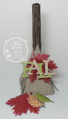 Stampin' Up!  Petal Cone Die Broom  by Mary Brown
