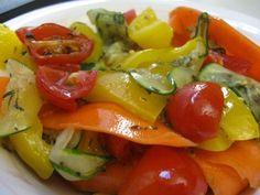 Rapidly Raw: Marinated Veggies