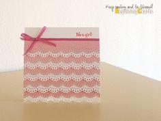 Handmade Baby Girl Card  New Baby Baby Shower