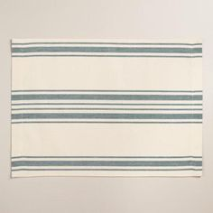 One of my favorite discoveries at WorldMarket.com: Blue Villa Stripe Placemats, Set of 4