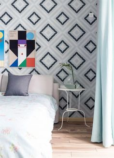 Love the fresh hue, cozy and comfortable! You can have it with ANT.TILE geometric triangle tiles mosaics patterns, bring artistic feel to any spaces