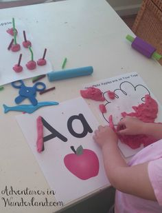 All About Apples: Preschool Playdough Unit | Adventures in Wunderland