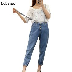 Fashion Moveable Strap Rompers Casual Style High Waist Denim Jumpsuits Large Size S-L Jean Overall Retro Capri Pants Women