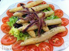 ensalada co asparagos blancos | ENSALADA DE ESPÁRRAGOS BLANCOS Y ANCHOAS