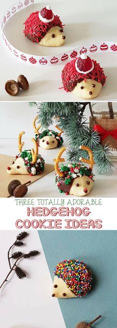 Love hedgehogs :) holiday sugar cookies