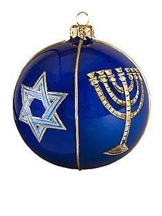 Joy To The World Judaica Ball Ornament