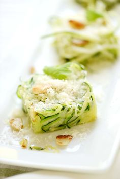 zucchini squares with toasted almonds and cheese. See the recipe here: http://wp.me/pHBxF-3MD