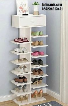 40 Simple Wooden Rack Idea to Store Your Shoes Collection is part of Diy shoe rack - There are three sorts of coat racks you may select from Well, it sounds as if you want a shoe rack The huge amount of different storage options Closet Bedroom, Bedroom Decor, Shoe Closet, Bedroom Ideas, Design Bedroom, Diy Shoe Rack, Shoe Racks, White Shoe Rack, Best Shoe Rack