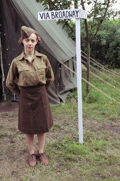 WAC reenactment Women's Army Corps Korpus Armijny Kobiet USA Italy Wac in Sparanise, Italy 15 April 1944 6669th Headquarters platoon