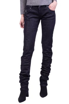 4d7f767fedf () PEOPLE Twisted Jeans Size 27 Stretch Blue Two Tone Made in Italy RRP 205