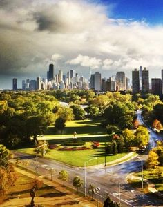 Meg Murphy's view from her Mies van der Rohe condo in Chicago: http://nonsensesensibility.com/blog/2012/03/city-style-meg-murphy-chicago/