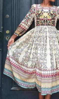 NEW ANTHROPOLOGIE Bhanuni Far Fields Midi Bead Embroidered Dress 8P Med #Bhanuni #Midi #Casual