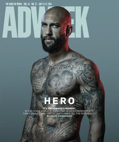 Tim Howard's cover photo for Adweek is stunning