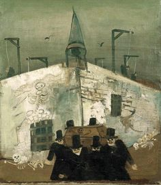 "James Ensor? Probably not Nussbaum ""Gallows"" (1930) by Felix Nussbaum"