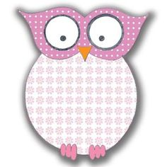 CH B *✿*Pink and pink floral owl