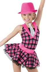 Weissman™ | Plaid Satin Waistband Tricot Skirt