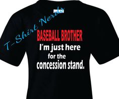Baseball Brother T-Shirt Baseball Brother by TShirtNerds on Etsy