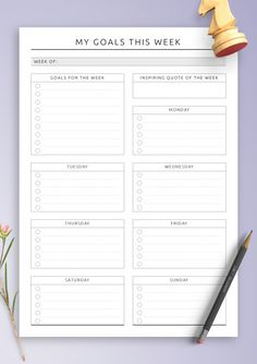 Download Printable 7 Days Weekly Planner PDF Daily Planner Pages, Weekly Meal Planner, Happy Planner, Monthly Planner Template, Planner Inserts, Week At A Glance Printable, Planner Layout, Planner Ideas, Goals Template