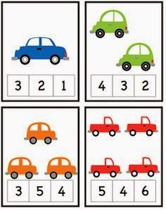 Car Alphabet, Number and Pattern Cards ~ Preschool Printables Cars Preschool, Numbers Preschool, Preschool Learning Activities, Learning Numbers, Preschool Printables, Kids Learning, Math Numbers, Printable Worksheets, Transportation Activities