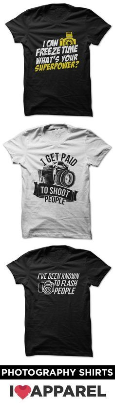 Check out entire collection of photography shirts.