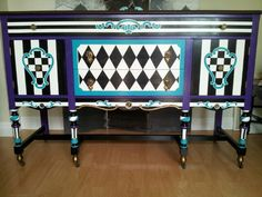 hand painted sideboard  www.facebook.com/allthingspainted24