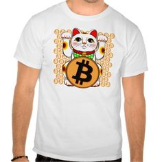 Bitcoin Maneki Neko Lucky Cat 06 Tee T-Shirts. Bitcoin, you can be your own bank. High resolution Bitcoin logo design just for you. Spread the word of Bitcoin, Vires in Numeris, Strength in Number people's choice crypto currency technology.