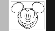 how to draw old mickey