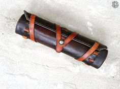 Leather Tool Roll / Handcrafted Utility Bag / Mechanic Roll / Artist's Kit / Unique Gift / Groomsmen  -rustic, personalized, made-to-order