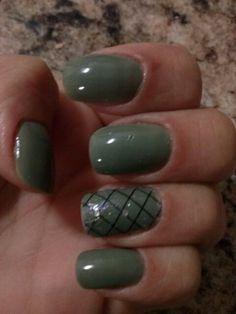 Nail, green, militar, colorama, art, unhas, verdes