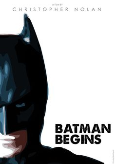 Batman Begins Minimal Movie Posters