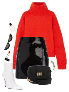 """""""Untitled #1091"""" by andressabrandao1 ❤ liked on Polyvore featuring Tory Burch, Manokhi, Jeffrey Campbell, Christian Dior, PAWAKA, Diane Kordas and Helmut Lang"""