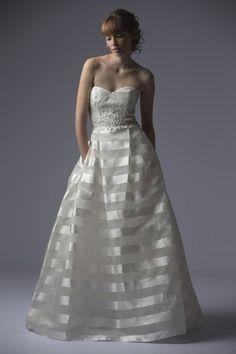 Francesca Miranda Sweetheart A-Line Gown in Organza   KleinfeldBridal.com