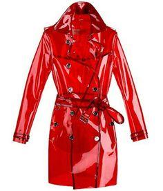 Transparent jelly coat #RaincoatsForWomenAprilShowers