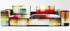 I'll take it!  Pixel couch by Kvadrat.  He should make me one too.  And a chair!