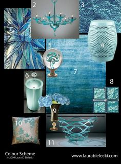 Interior Design Color Theory –Turquoise blue