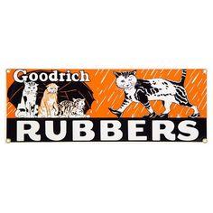 Goodrich Rubbers Cat Porcelain Sign